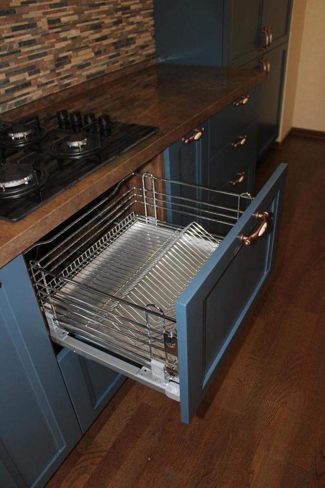 Встроенная кухня-Кухня МДФ в эмали «Модель 155»-фото4