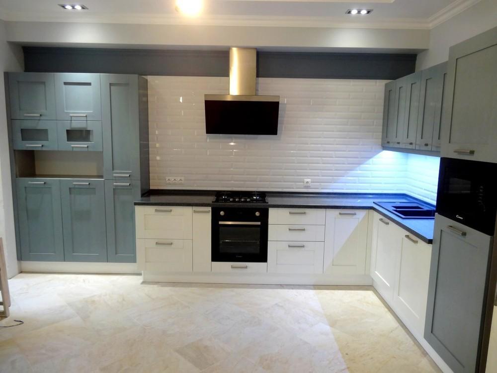 Белый кухонный гарнитур-Кухня МДФ в ПВХ «Модель 145»-фото2