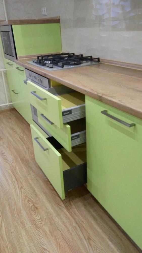 Встроенная кухня-Кухня МДФ в ПВХ «Модель 194»-фото4