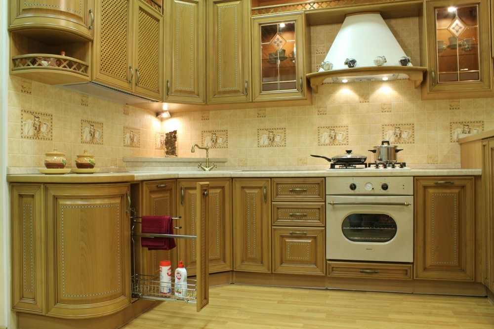 Дорогие и элитные кухни-Кухня из массива «Модель 127»-фото7