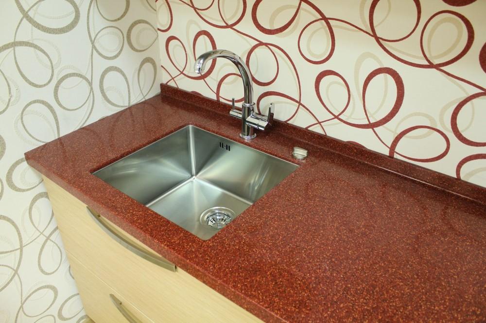 Акриловые кухни-Кухня из пластика «Модель 129»-фото4