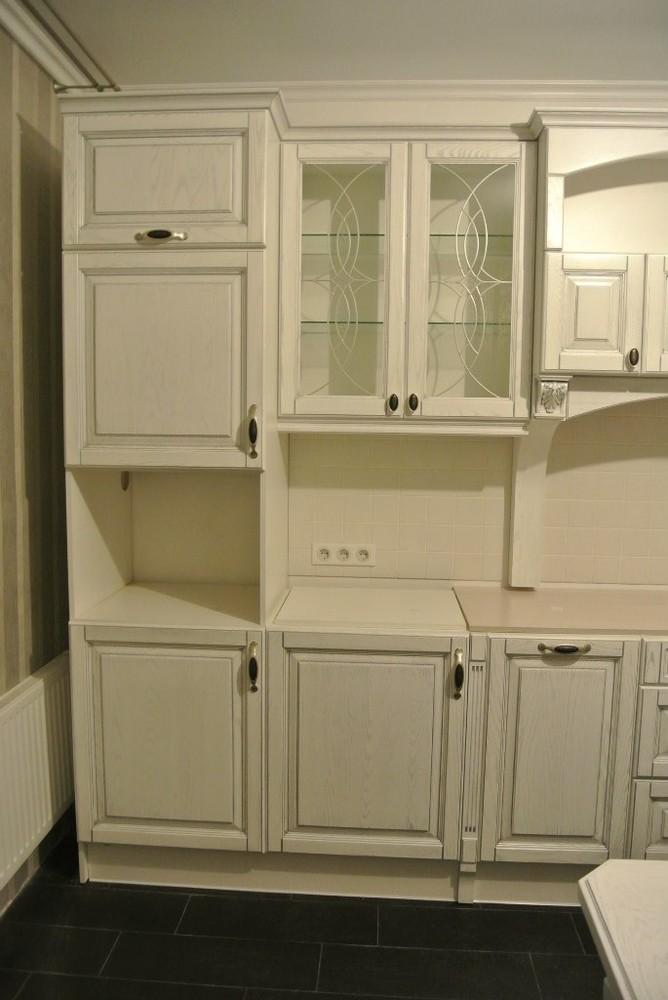 Белый кухонный гарнитур-Кухня МДФ в ПВХ «Модель 187»-фото1