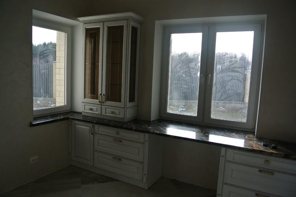 Белый кухонный гарнитур-Кухня из массива «Модель 179»-фото3