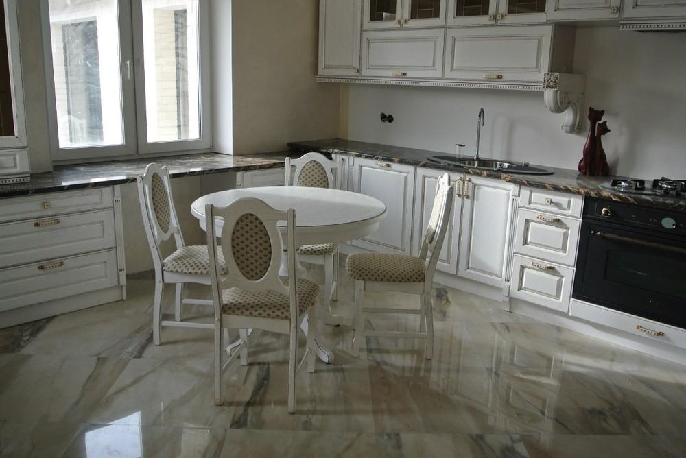 Белый кухонный гарнитур-Кухня из массива «Модель 179»-фото8