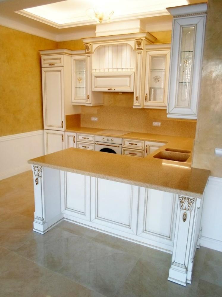 Белый кухонный гарнитур-Кухня из массива «Модель 152»-фото2
