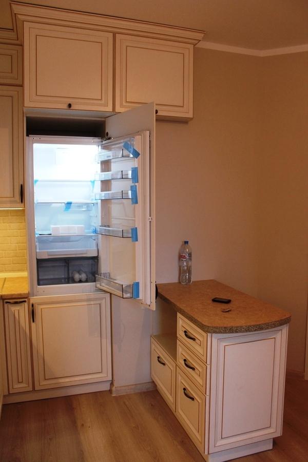 Белый кухонный гарнитур-Кухня МДФ в ПВХ «Модель 39»-фото4