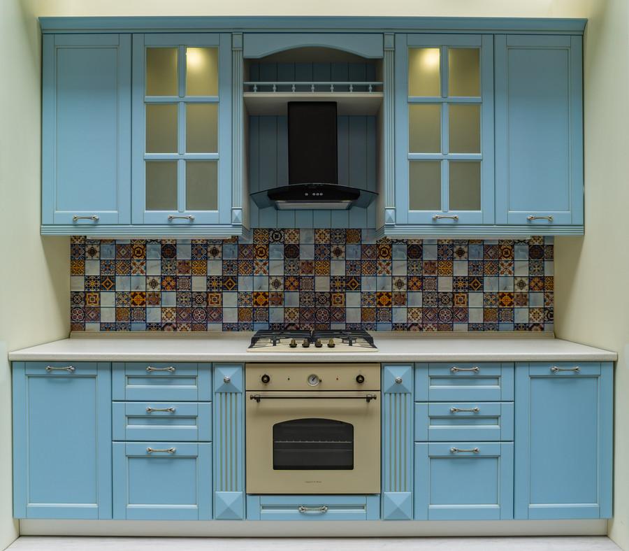 Встроенная кухня-Кухня МДФ в ПВХ «Модель 54»-фото1