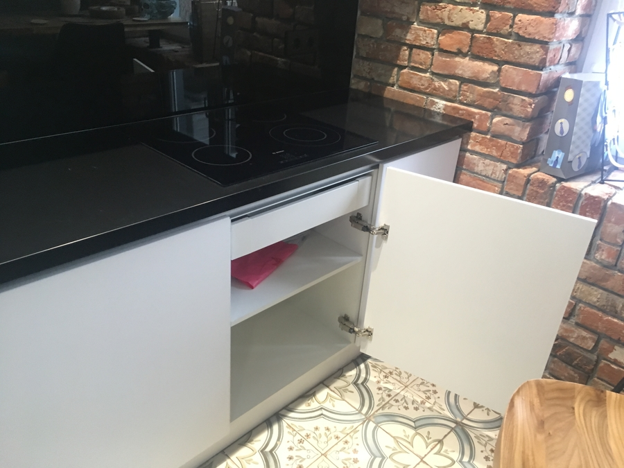 Белый кухонный гарнитур-Кухня МДФ в ПВХ «Модель 66»-фото8