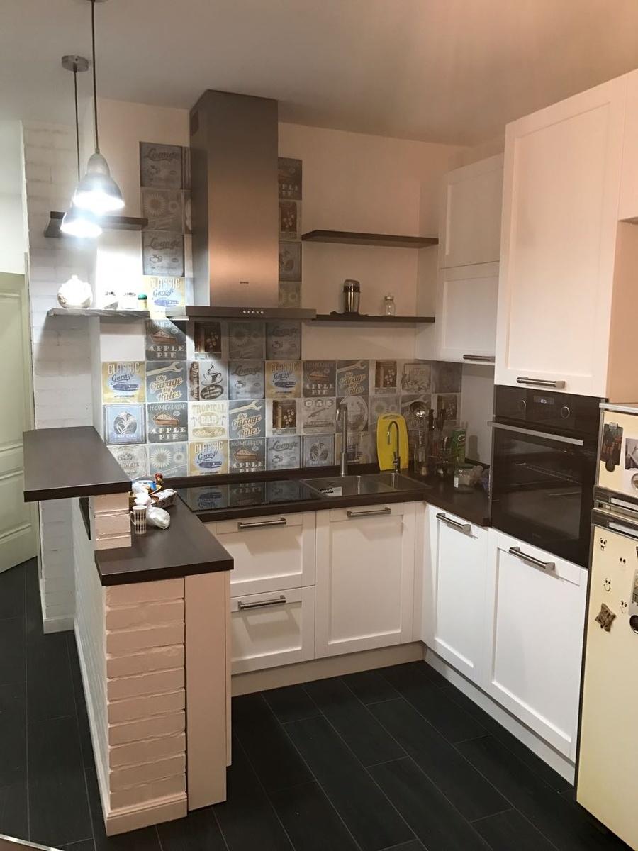 Белый кухонный гарнитур-Кухня МДФ в эмали «Модель 32»-фото1