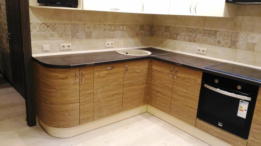 Белый кухонный гарнитур-Кухня МДФ в ПВХ «Модель 36»-фото4