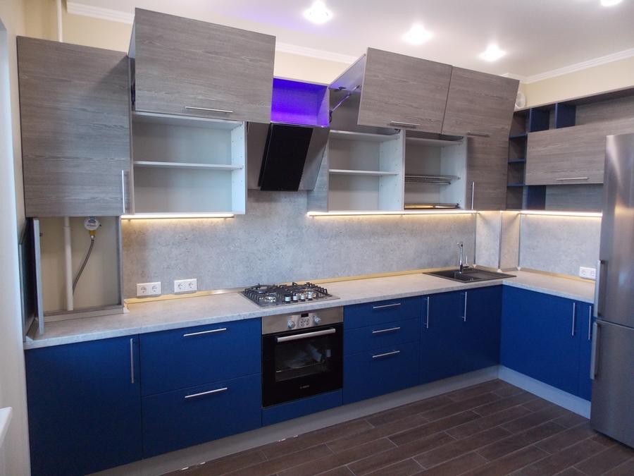 Встроенная кухня-Кухня МДФ в эмали «Модель 15»-фото2