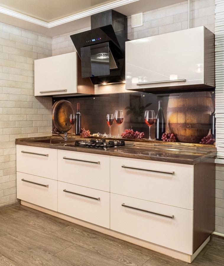 Белый кухонный гарнитур-Кухня из пластика «Модель 2»-фото2