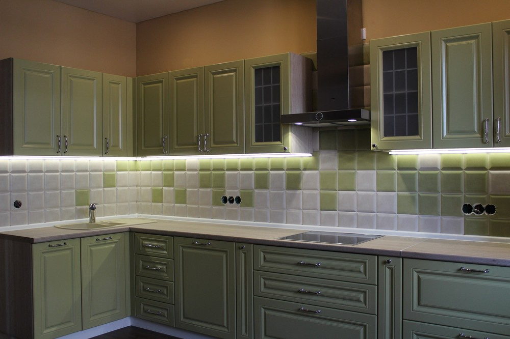 Классические кухни-Кухня МДФ в ПВХ «Модель 91»-фото2