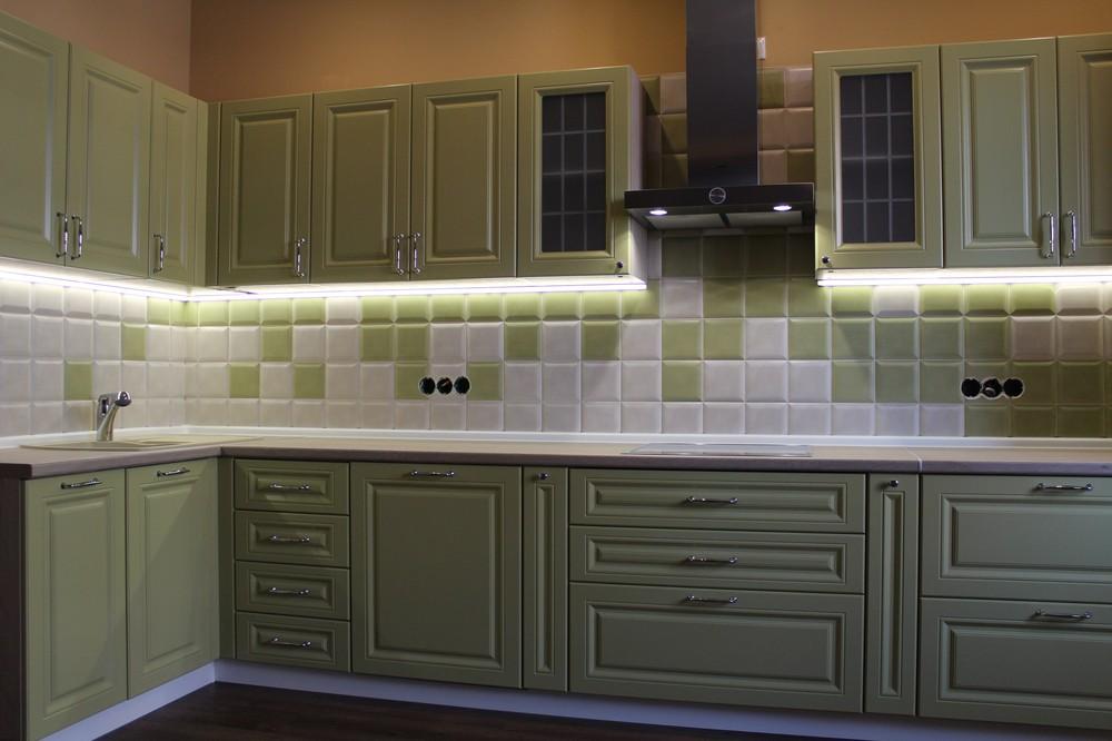 Классические кухни-Кухня МДФ в ПВХ «Модель 91»-фото6