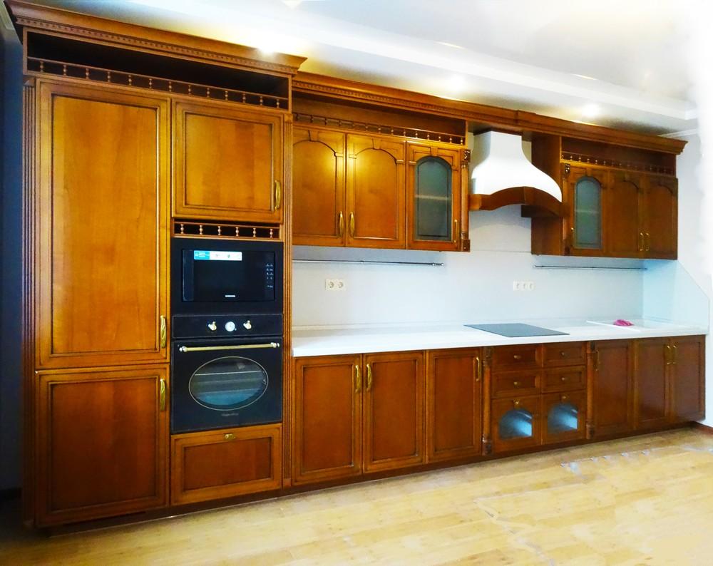 Встроенная кухня-Кухня МДФ в эмали «Модель 303»-фото1