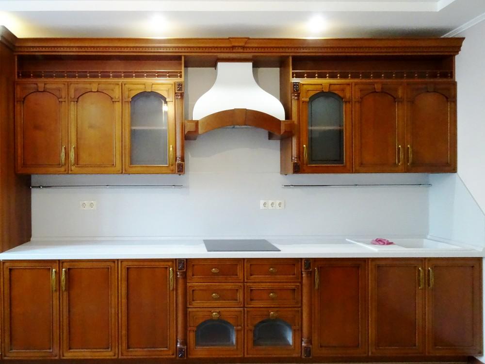 Встроенная кухня-Кухня МДФ в эмали «Модель 303»-фото2