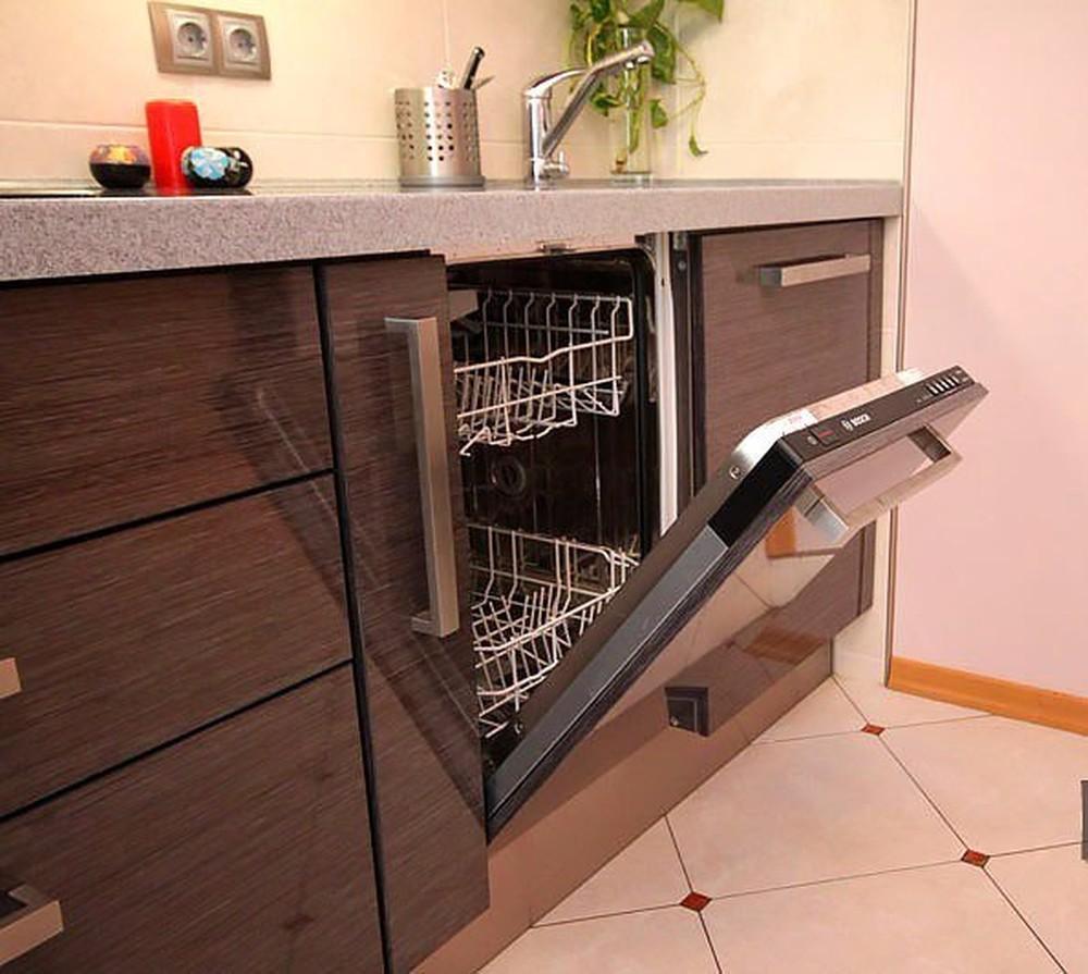 Встроенная кухня-Кухня МДФ в ПВХ «Модель 116»-фото1
