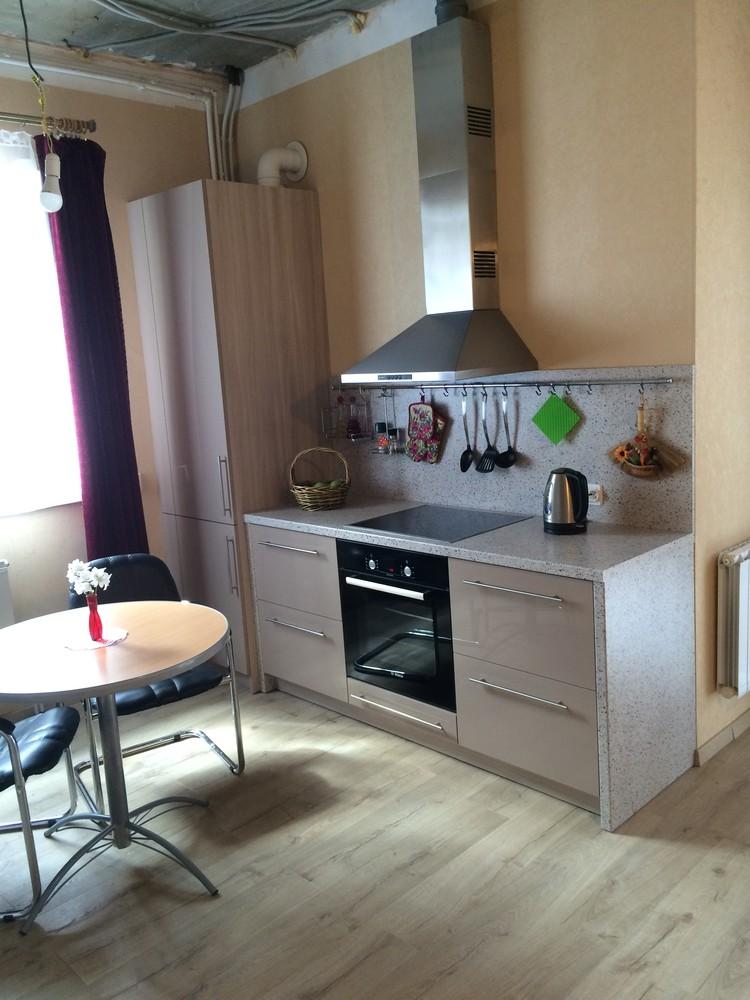 Акриловые кухни-Кухня из пластика «Модель 104»-фото1