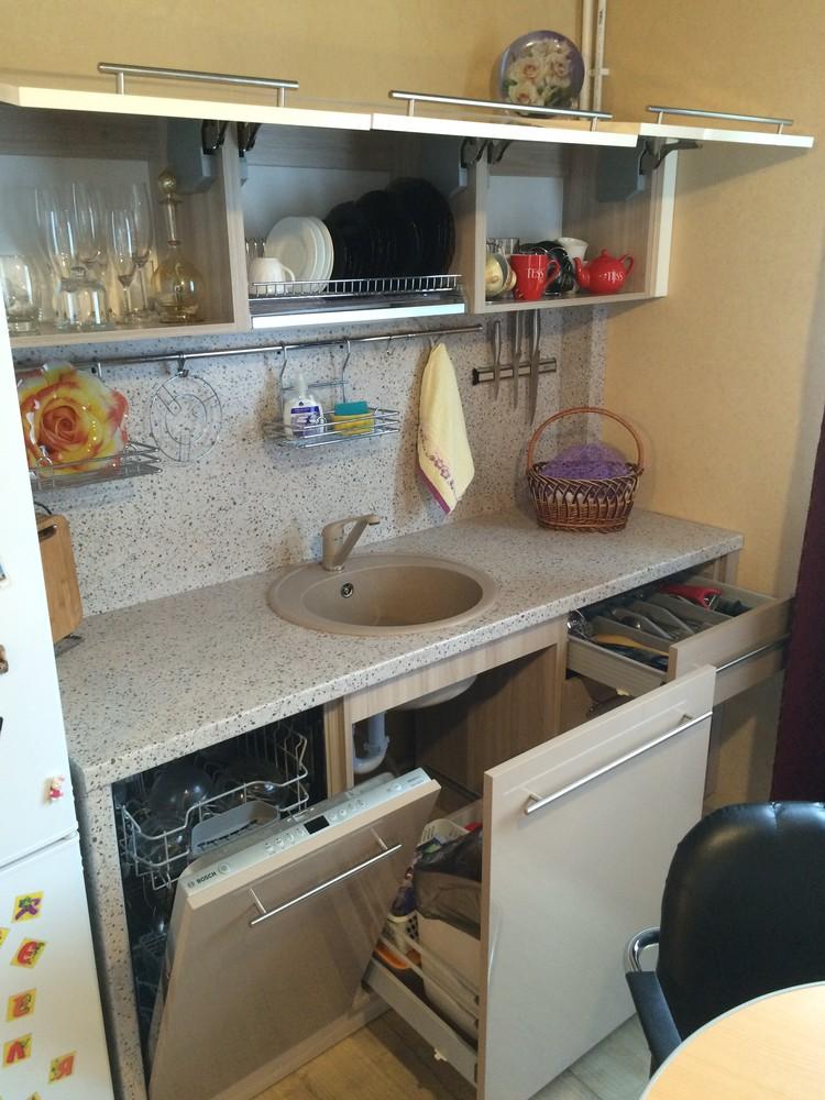 Акриловые кухни-Кухня из пластика «Модель 104»-фото8