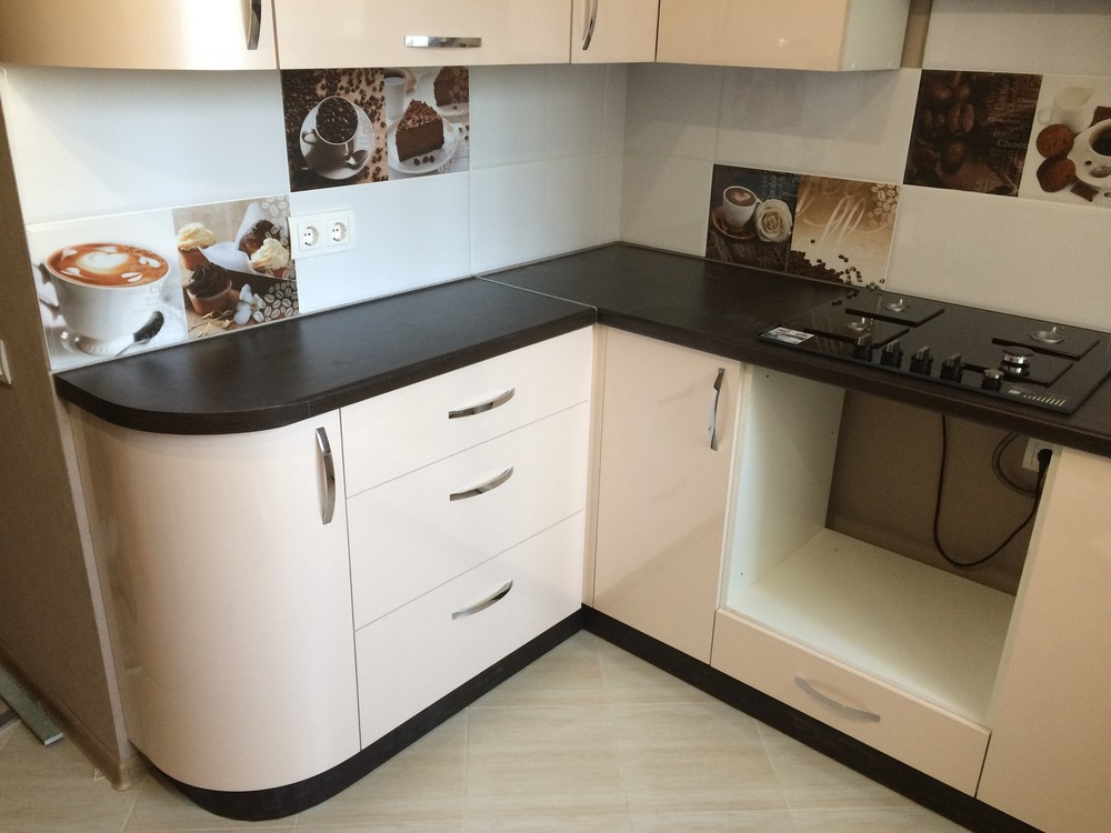 Белый кухонный гарнитур-Кухня МДФ в ПВХ «Модель 323»-фото4