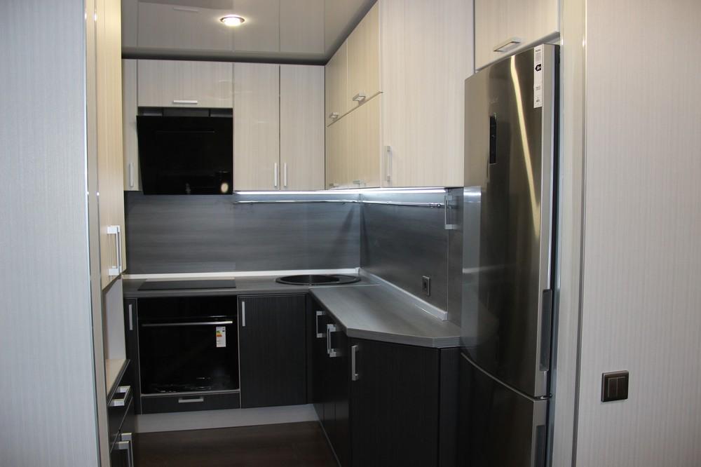 Встроенная кухня-Кухня МДФ в ПВХ «Модель 92»-фото1