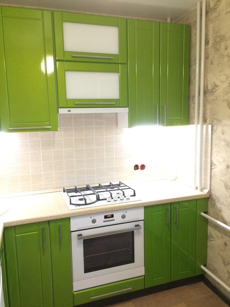 Встроенная кухня-Кухня МДФ в эмали «Модель 309»-фото1