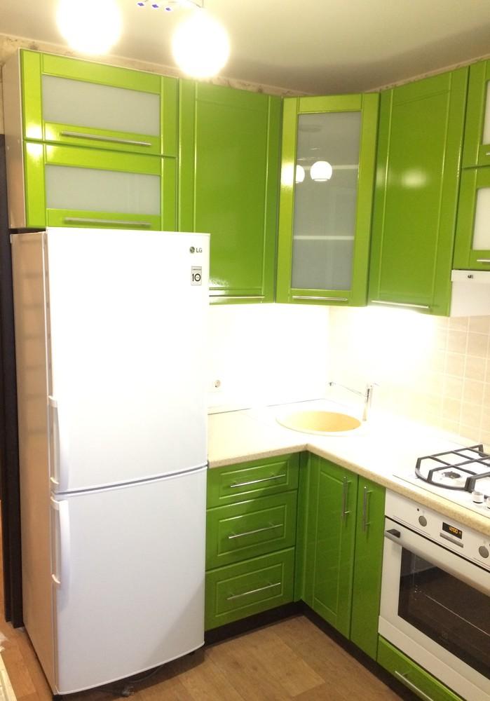 Встроенная кухня-Кухня МДФ в эмали «Модель 309»-фото2