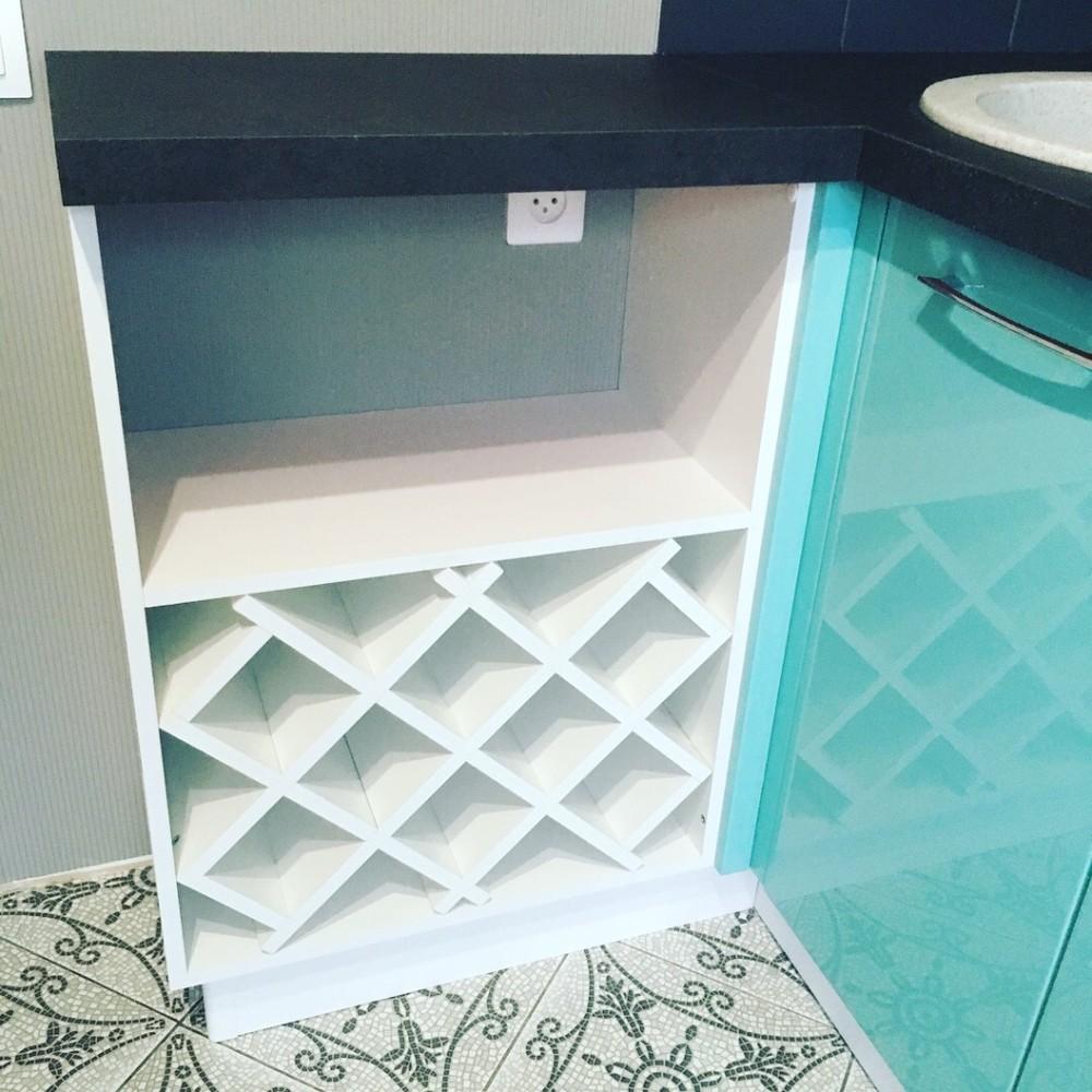 Белый кухонный гарнитур-Кухня МДФ в ПВХ «Модель 320»-фото8