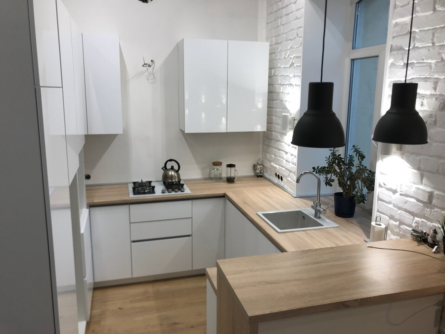 Акриловые кухни-Кухня из акрила «Модель 106»-фото1