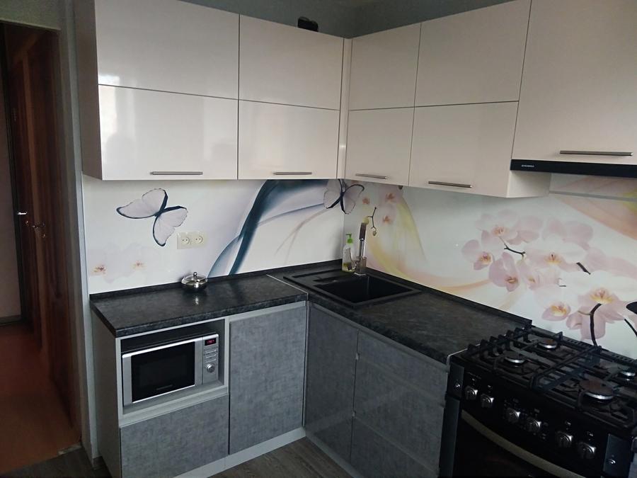 Белый кухонный гарнитур-Кухня из пластика «Модель 191»-фото2