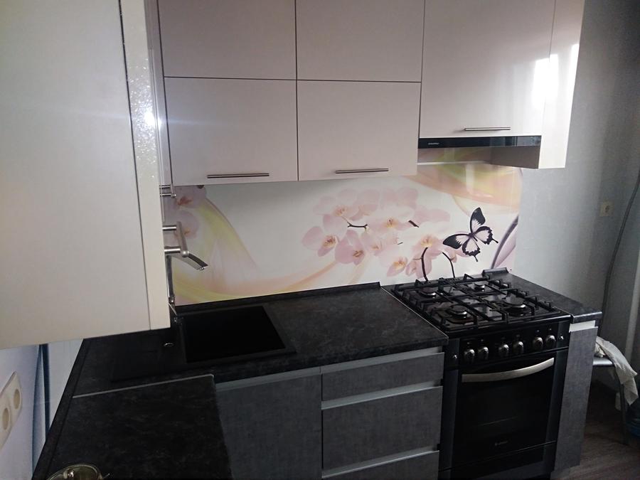 Белый кухонный гарнитур-Кухня из пластика «Модель 191»-фото3