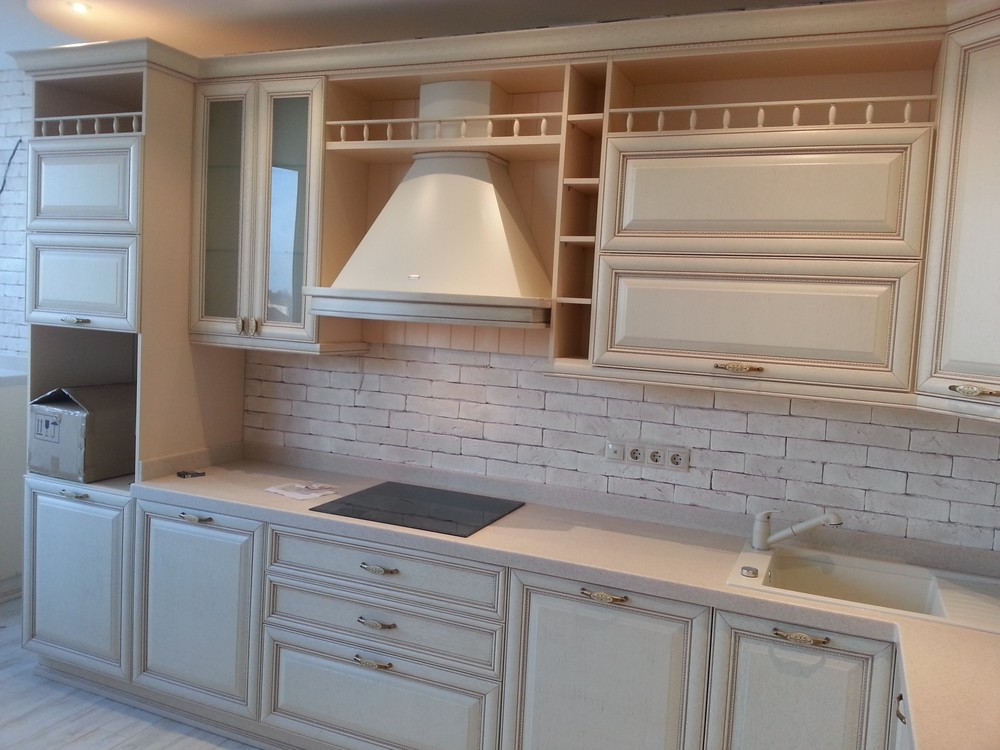 Белый кухонный гарнитур-Кухня из массива «Модель 276»-фото2