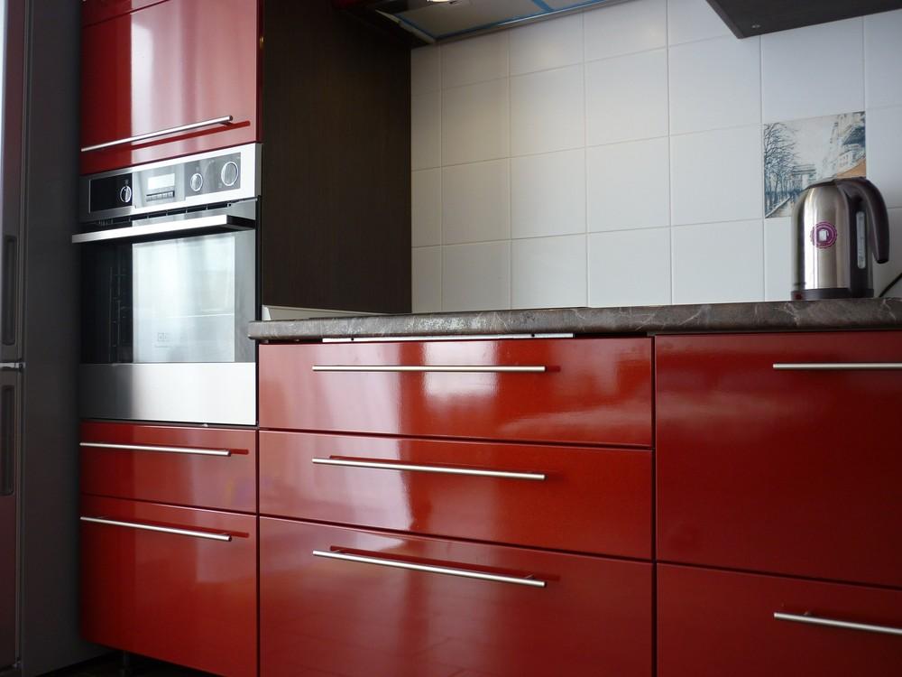 Встроенная кухня-Кухня МДФ в ПВХ «Модель 264»-фото2
