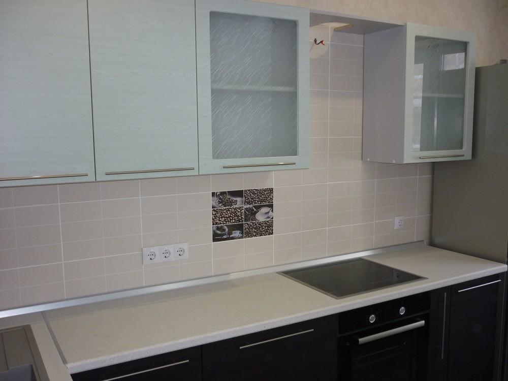 Встроенная кухня-Кухня МДФ в ПВХ «Модель 254»-фото2