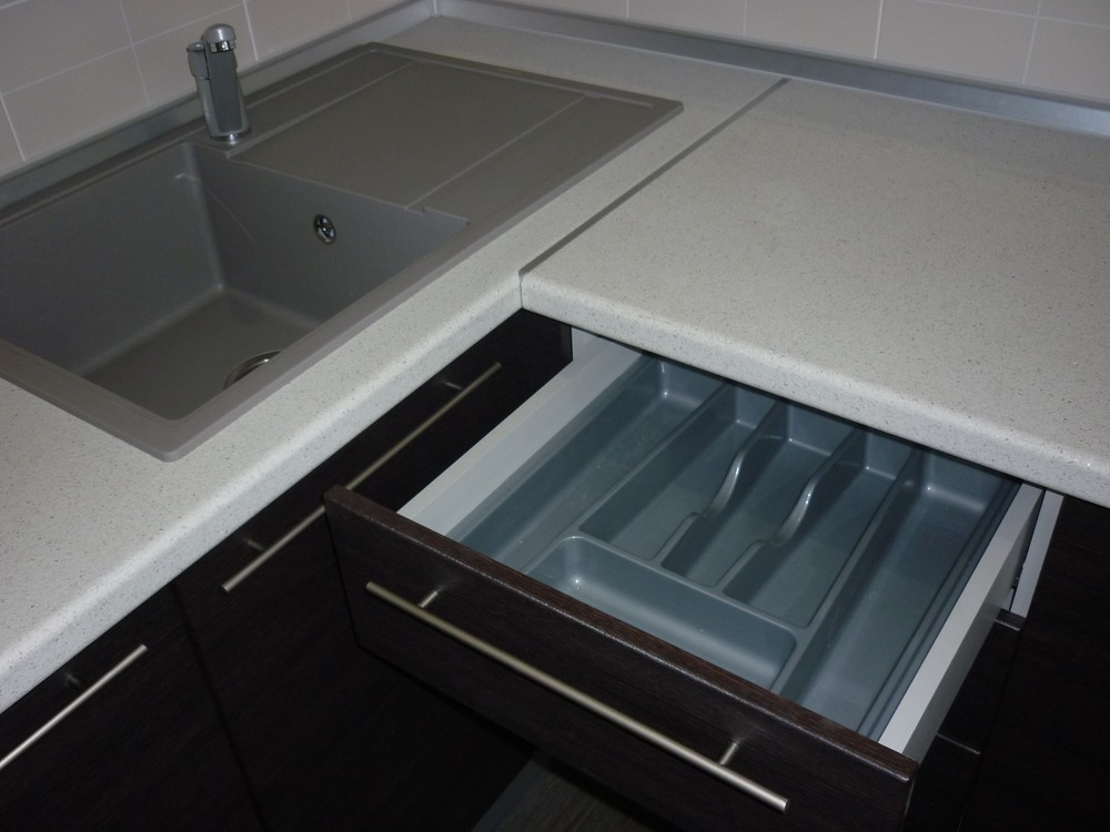 Встроенная кухня-Кухня МДФ в ПВХ «Модель 254»-фото4