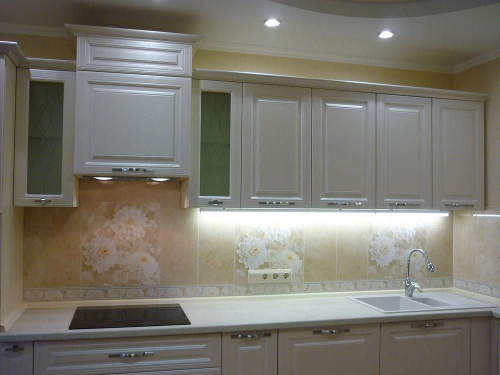 Встроенная кухня-Кухня МДФ в ПВХ «Модель 229»-фото2