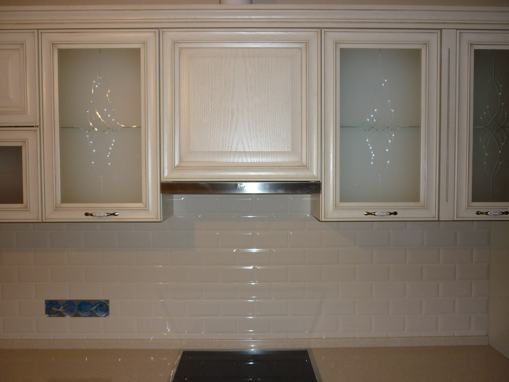 Белый кухонный гарнитур-Кухня МДФ в ПВХ «Модель 223»-фото2