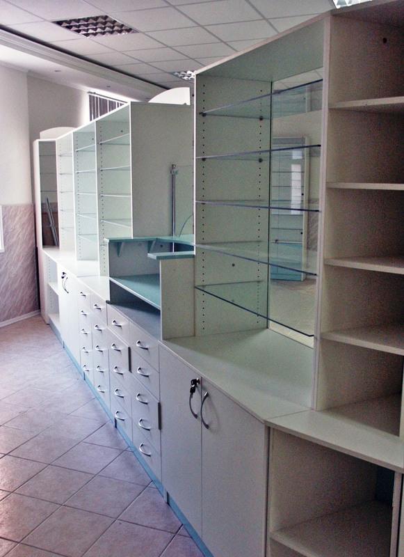 Торговая мебель-Мебель для аптеки «Модель 187»-фото1