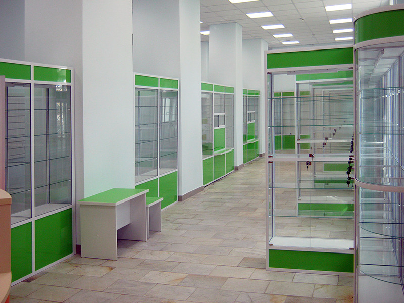 Торговая мебель-Мебель для аптеки «Модель 192»-фото1