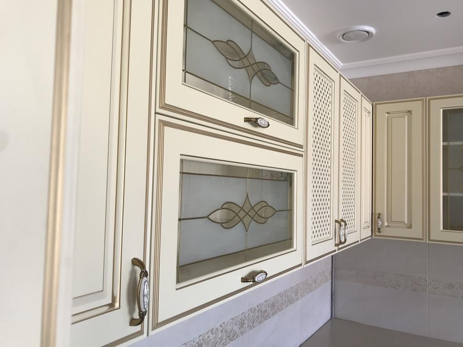 Белый кухонный гарнитур-Кухня МДФ в эмали «Модель 487»-фото9