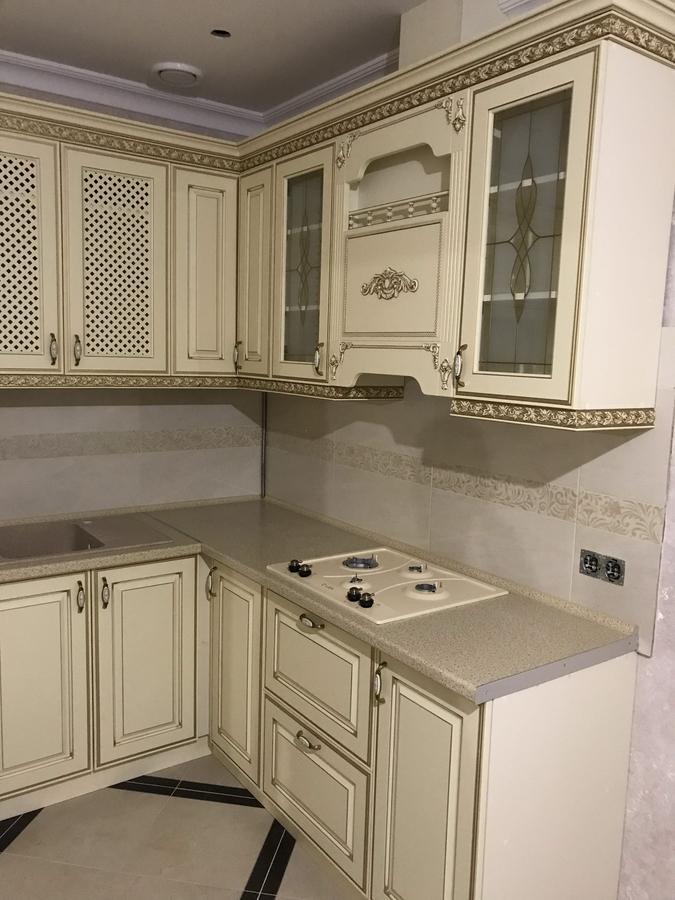 Белый кухонный гарнитур-Кухня МДФ в эмали «Модель 487»-фото3