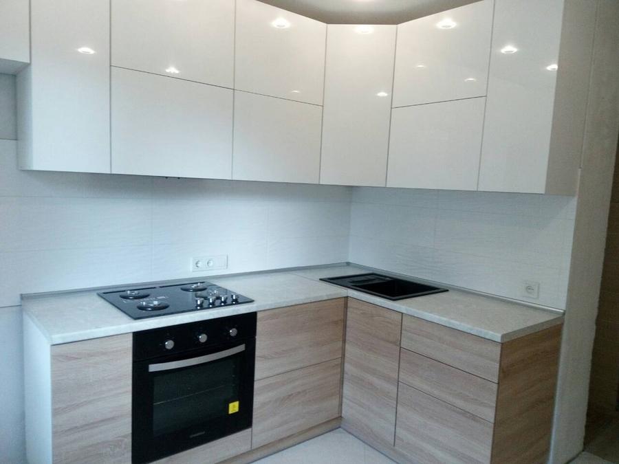 Акриловые кухни-Кухня из акрила «Модель 391»-фото1