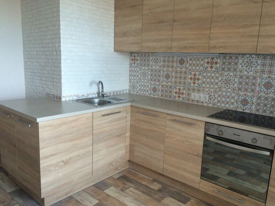 Встроенная кухня-Кухня из ЛДСП «Модель 389»-фото1
