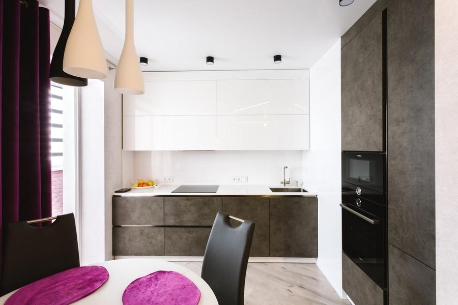 Белый кухонный гарнитур-Кухня из ЛДСП «Модель 416»-фото2