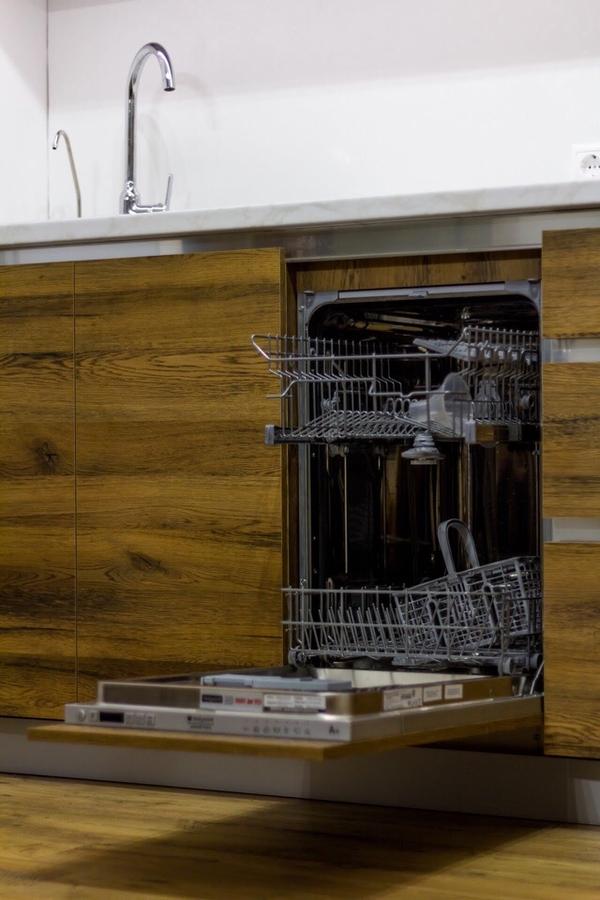 Белый кухонный гарнитур-Кухня из пластика «Модель 422»-фото4