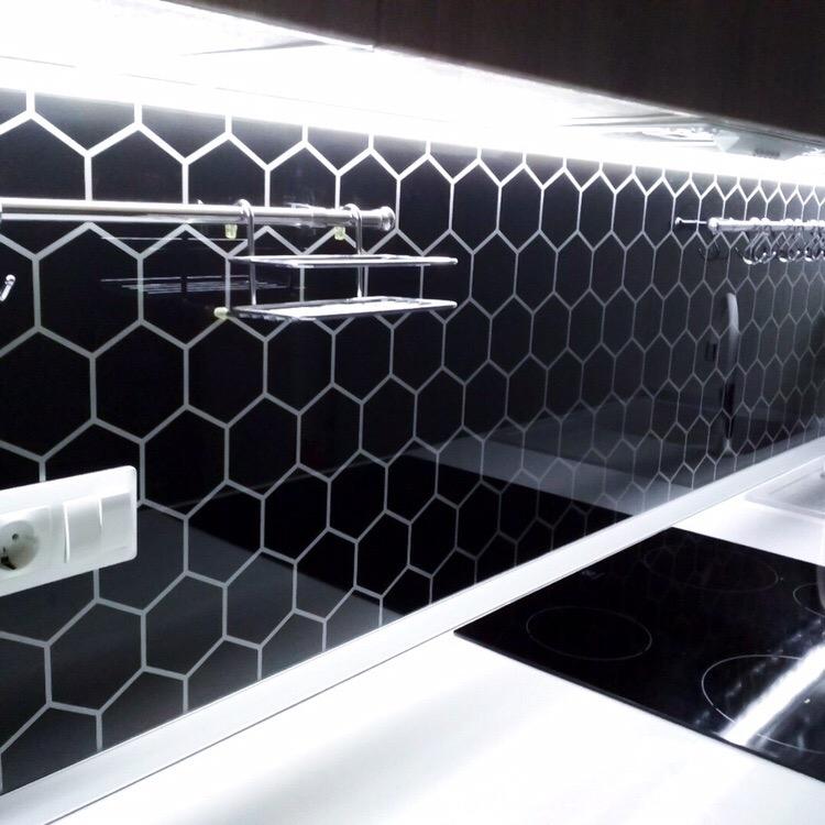 Белый кухонный гарнитур-Кухня МДФ в эмали «Модель 421»-фото6