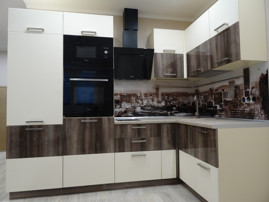 Белый кухонный гарнитур-Кухня МДФ в эмали «Модель 485»-фото3
