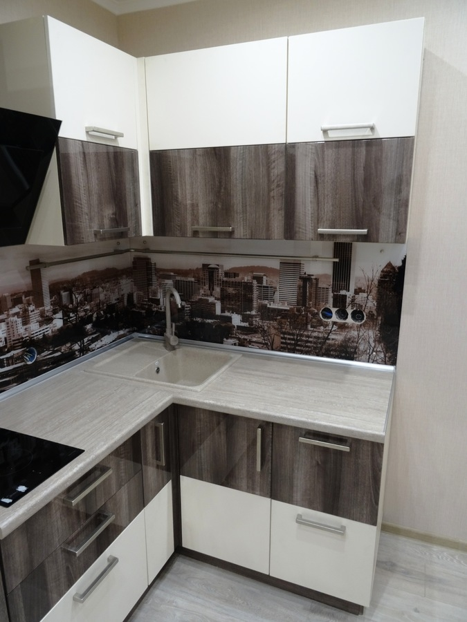 Белый кухонный гарнитур-Кухня МДФ в эмали «Модель 485»-фото4