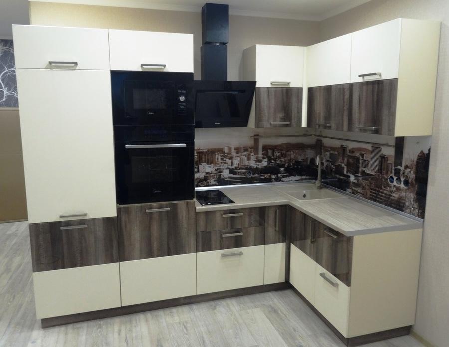 Белый кухонный гарнитур-Кухня МДФ в эмали «Модель 485»-фото2