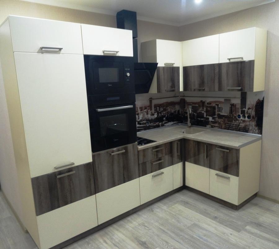 Белый кухонный гарнитур-Кухня МДФ в эмали «Модель 485»-фото1